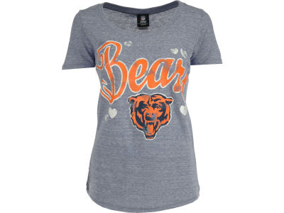 Chicago Bears NFL Womens Tri-Blend Jersey Scoop