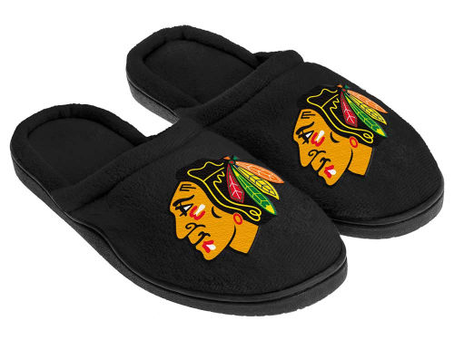 Chicago Blackhawks Forever Collectibles Cupped Sole Slippers