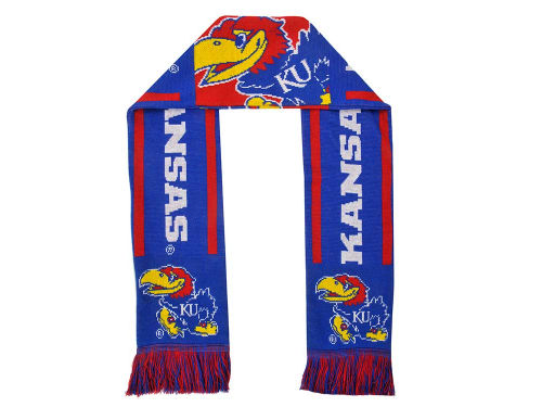 Kansas Jayhawks Forever Collectibles Acrylic Team Stripe Scarf