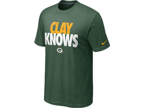 Green Bay Packers Matthews Nike NFL Player Knows T-Shirt