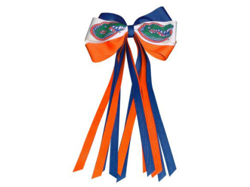 Florida Gators Bowtie Pony Tail Holder With Streamers