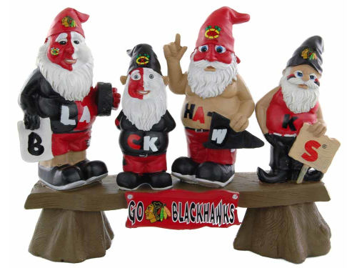 Chicago Blackhawks Fan Gnome Bench-NHL