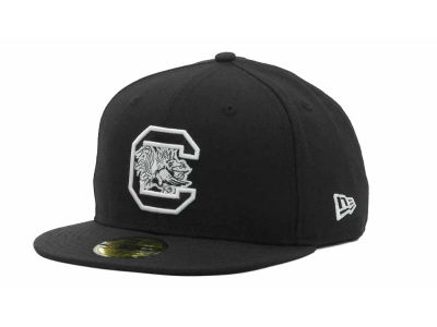 South Carolina Gamecocks NCAA Black on Black with White 59FIFTY Hats