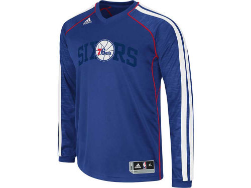 Philadelphia 76ers adidas NBA Road On-Court Long Sleeve Shooter