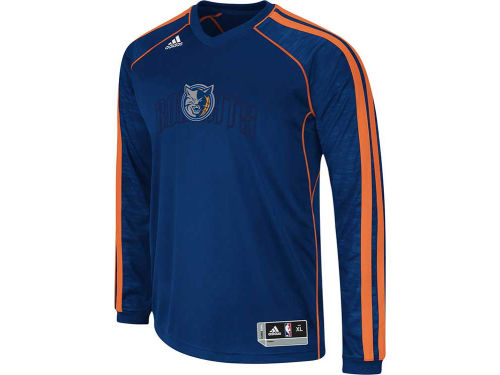 Charlotte Bobcats adidas NBA Road On-Court Long Sleeve Shooter