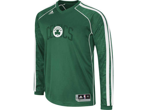 Boston Celtics adidas NBA Road On-Court Long Sleeve Shooter