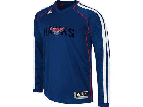 Atlanta Hawks adidas NBA Road On-Court Long Sleeve Shooter