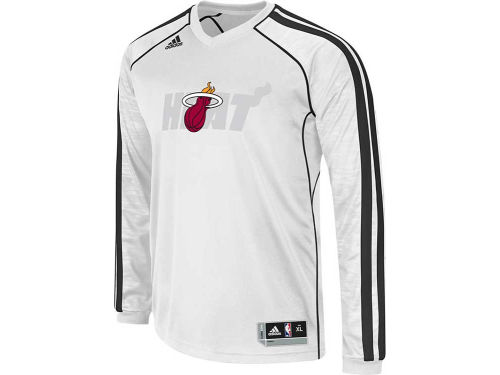 Miami Heat adidas NBA Road On-Court Long Sleeve Shooter