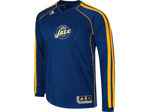 Utah Jazz adidas NBA Road On-Court Long Sleeve Shooter