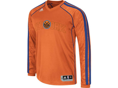 New York Knicks adidas NBA Road On-Court Long Sleeve Shooter