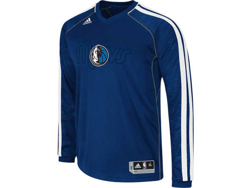 Dallas Mavericks adidas NBA Road On-Court Long Sleeve Shooter