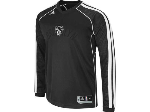 Brooklyn Nets adidas NBA Road On-Court Long Sleeve Shooter