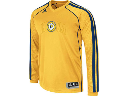 Indiana Pacers adidas NBA Road On-Court Long Sleeve Shooter