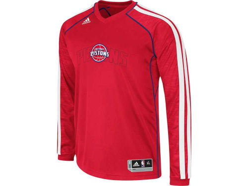 Detroit Pistons adidas NBA Road On-Court Long Sleeve Shooter