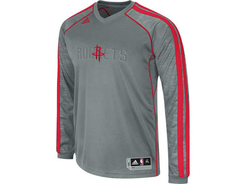 Houston Rockets adidas NBA Road On-Court Long Sleeve Shooter