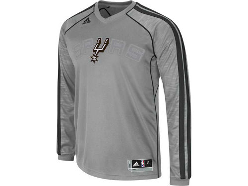 San Antonio Spurs adidas NBA Road On-Court Long Sleeve Shooter