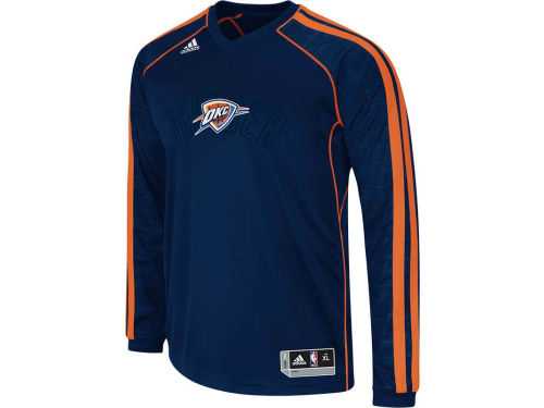 Oklahoma City Thunder adidas NBA Road On-Court Long Sleeve Shooter