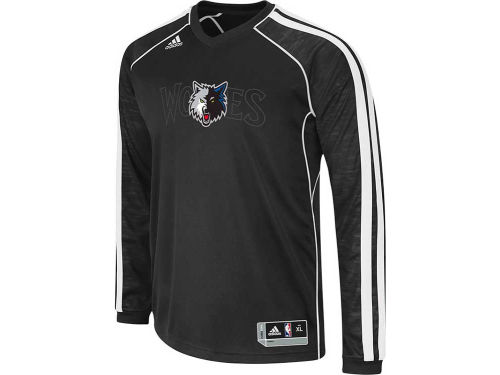 Minnesota Timberwolves adidas NBA Road On-Court Long Sleeve Shooter