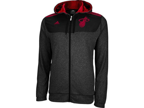 Miami Heat adidas NBA Pre-Game Full Zip Hoodies 12-13