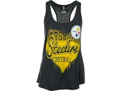 Pittsburgh Steelers NFL Womens Tri Blend Jersey Racerback Tank