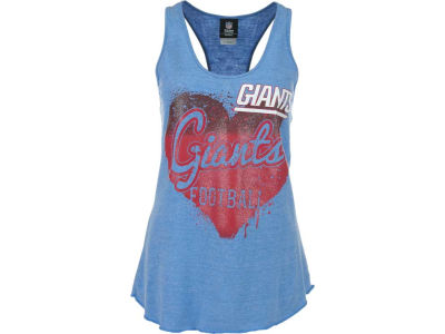 New York Giants NFL Womens Tri Blend Jersey Racerback Tank