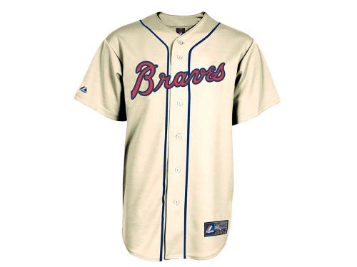 Atlanta Braves Majestic MLB Blank Replica Jersey