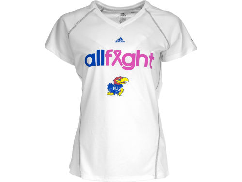 Kansas Jayhawks adidas NCAA Womens All Fight Climalite T-Shirt