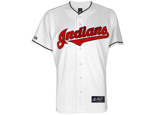Cleveland Indians Majestic MLB Youth Blank Replica Jersey