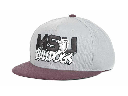 Mississippi State Bulldogs Top of the World NCAA Quake Snapback Cap Hats
