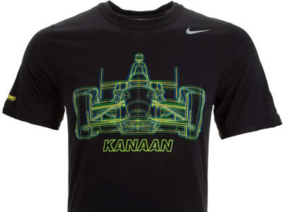 Tony Kanaan Racing Mens Legend Glowing Car T-Shirt