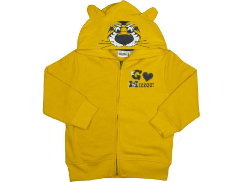 Missouri Tigers NCAA Toddler 3D Mascot Zip Hoodie