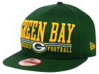 Green Bay Packers New Era NFL Lateral 9FIFTY Snapback Cap Hats