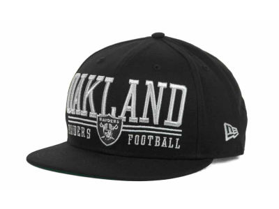 Oakland Raiders NFL Lateral 9FIFTY Snapback Hats