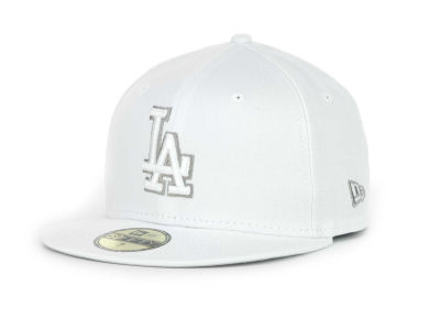Los Angeles Dodgers MLB White Go 59FIFTY Hats