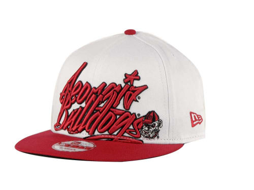 Georgia Bulldogs New Era NCAA Foundation 9FIFTY Snapback Hats
