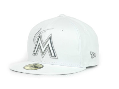 Miami Marlins MLB White Go 59FIFTY Hats