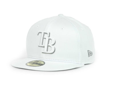 Tampa Bay Rays MLB White Go 59FIFTY Hats
