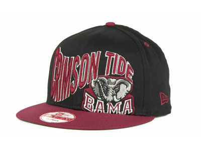 Alabama Crimson Tide NCAA Wave Black 9FIFTY Snapback Hats