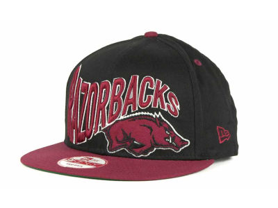 Arkansas Razorbacks NCAA Wave Black 9FIFTY Snapback Hats