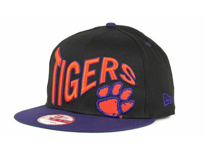 Clemson Tigers NCAA Wave Black 9FIFTY Snapback Hats