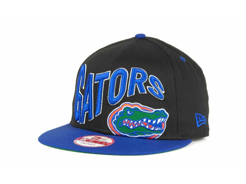 Florida Gators New Era NCAA Wave Black 9FIFTY Snapback Hats