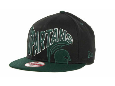 Michigan State Spartans NCAA Wave Black 9FIFTY Snapback Hats