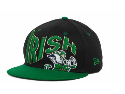Notre Dame Fighting Irish NCAA Wave Black 9FIFTY Snapback Hats