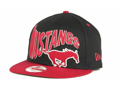 Southern Methodist Mustangs NCAA Wave Black 9FIFTY Snapback Hats