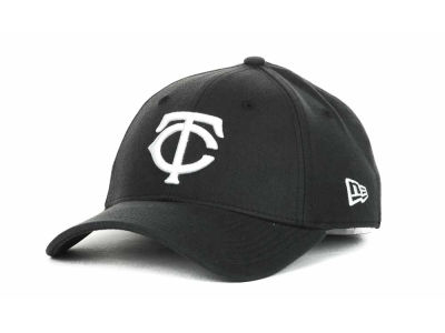 Minnesota Twins MLB Black and White Ace 39THIRTY Hats