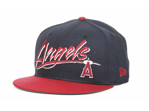 Los Angeles Angels of Anaheim New Era MLB Retro Word 9FIFTY Snapback Hats