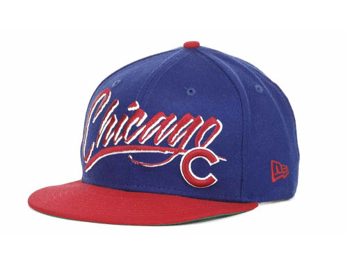 Chicago Cubs New Era MLB Retro Word 9FIFTY Snapback Hats