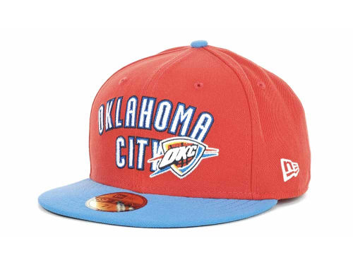 Oklahoma City Thunder New Era NBA Hardwood Classics BC 2 Tone 59FIFTY Hats