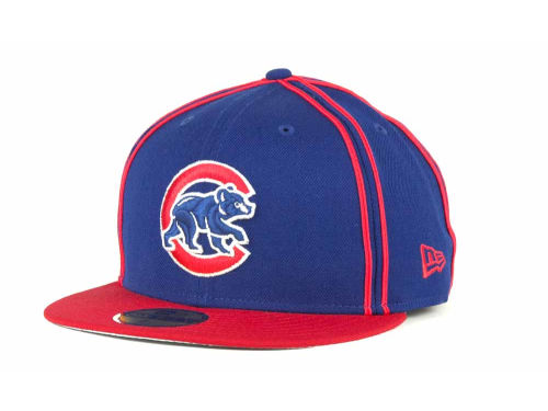 Chicago Cubs New Era MLB Retro Piping 59FIFTY Hats