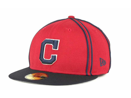 Cleveland Indians New Era MLB Retro Piping 59FIFTY Hats